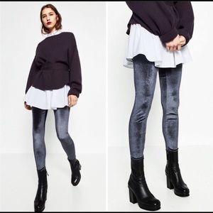 ZARA Collection Velvet Leggings